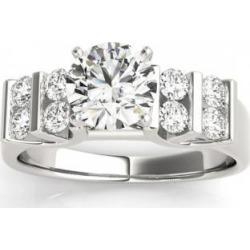 Diamond Chanel Set Antique Engagement Ring Setting Palladium (0.48ct)