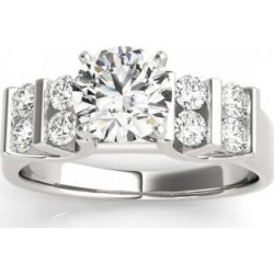Diamond Chanel Set Antique Engagement Ring Setting Platinum (0.48ct)